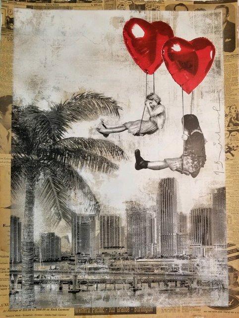 Mr. Brainwash, 'Love is in The Air Miami', 2019, Print, Mixed Media unique on Paper, Fine Art Acquisitions Dali