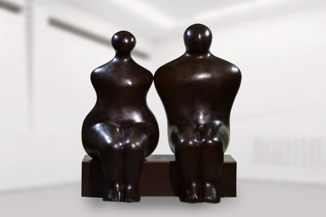Pavel Quoytcheff, 'Seated Couple', 1994, Snow Pearl Art Gallery