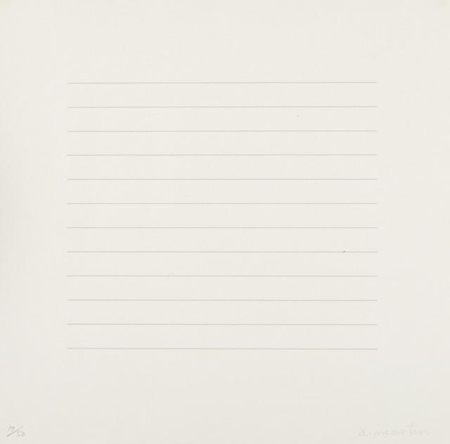 Agnes Martin, 'Untitled', 1973, Phillips