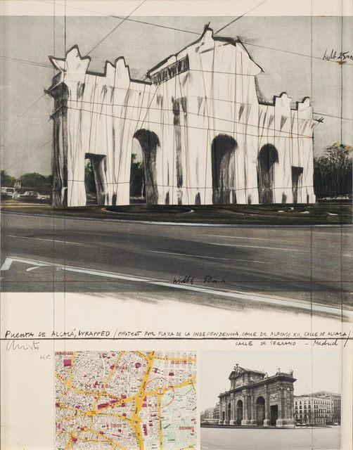 Christo, 'Puerta de Alcala, Wrapped, Project for Madrid', 1981, Hamilton-Selway Fine Art