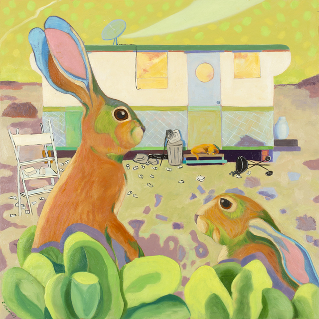 Lindy Chambers, 'Rabbit Run', 2018, Painting, Oil on panel, Valley House Gallery & Sculpture Garden