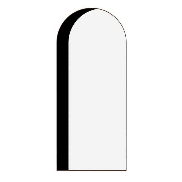 Bower, 'Arch Floor Mirror', Design/Decorative Art, Black and clear mirror, walnut frame, Manfredi Style