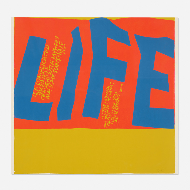 Corita Kent, 'Life is a Complicated Business', 1967, Wright