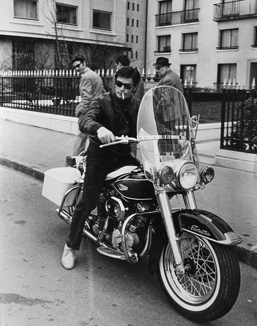 Daniel Angeli, 'Alain Delon in sella ad una Harley-Davidson', 1968, Il Ponte