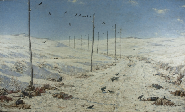 Vasily Vereshchagin, 'The Road of the War Prisoners', 1878-1879, Painting, Oil on canvas, Brooklyn Museum