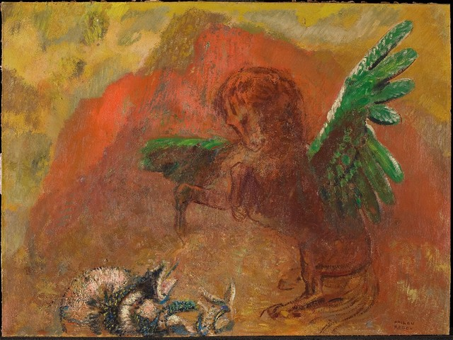 Odilon Redon, 'Pegasus and the hydra', After 1900, The National Gallery, London