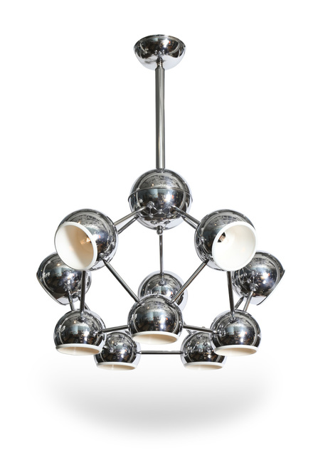 ", '""Molecule"" Hanging Light Fixture.,' , Donzella 20th Century Gallery"