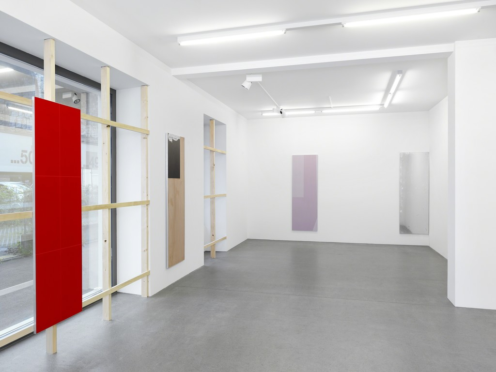 "Nick Oberthaler, ""I CAN SEE THE WHOLE ROOM!...AND THERE'S NOBODY IN IT!"" Galerie Maria Bernheim, 2016"