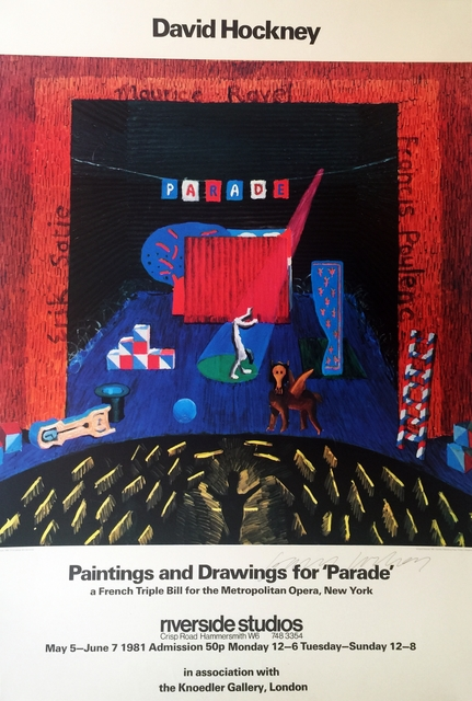 , 'Paintings and Drawings for Parade - Metropolitan Museum  (Rare Hand Signed Offset Lithograph),' 1981, Alpha 137 Gallery