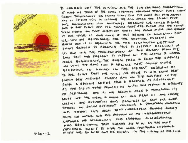 Edwin Schlossberg, '8.30.12', 2012, Ronald Feldman Gallery