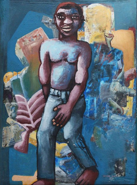 , 'Man on Blue Background,' 2001, The Hourglass Gallery