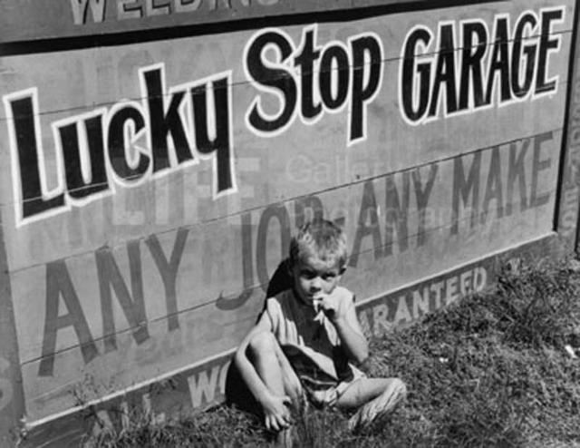 Margaret Bourke-White, 'Lucky Stop Garage', 1936, Photography, Silver Gelatin Print, Contessa Gallery