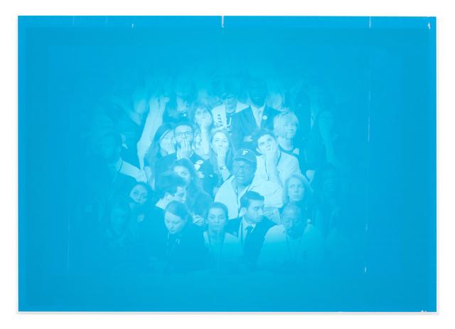 Emmanuel Van der Auwera, 'Memento 14 (Nuit Américaine)', 2018, Painting, Newspaper .3mm aluminum offset plates mounted on aluminum frame, Harlan Levey Projects