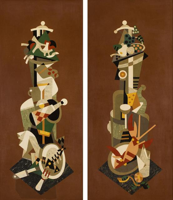 , 'Empty plates & Full plates,' 1933, CFHILL