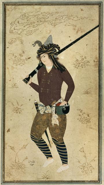 , 'Junger Mann mit Muskete Iran,' ca. 1610, Pergamonmuseum