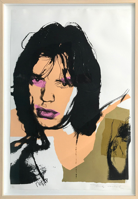 Andy Warhol, 'MICK JAGGER FS II.141', 1975, Print, SCREENPRINT ON ARCHES AQUARELLE (ROUGH) PAPER, Gallery Art