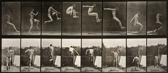 , 'Animal Locomotion: Plate 160 (Man Performing Long Jump),'  1887, Huxley-Parlour