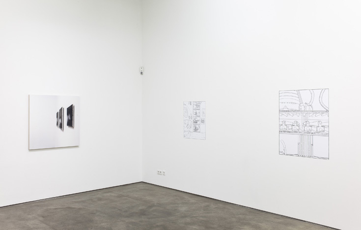 Louise Lawler No Drones Installation view Sprüth Magers Berlin, 2014