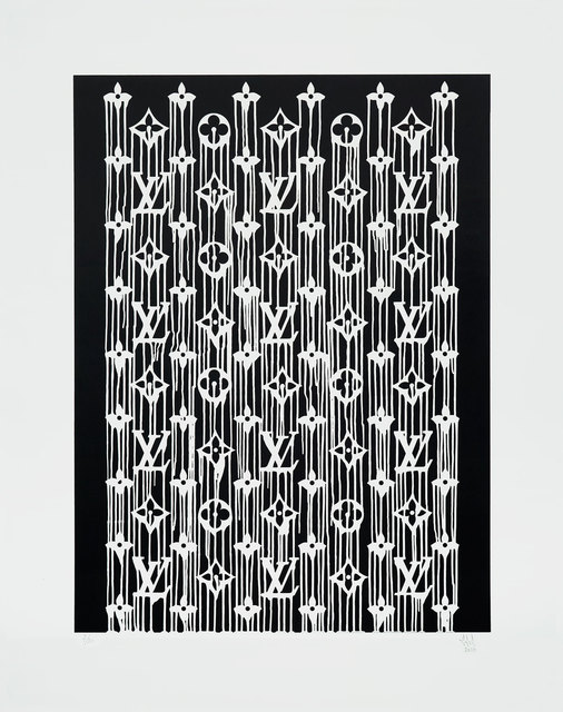 Zevs, 'Liquidated LV', 2017, Print, Serigraph in black and white, artrepublic