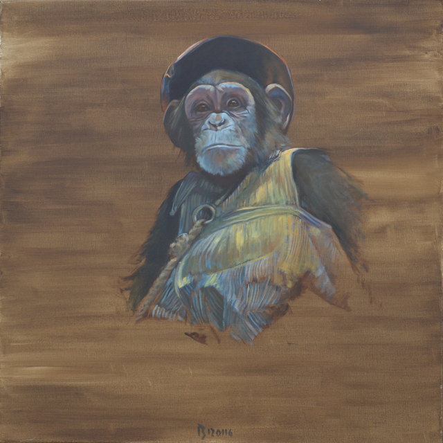 , 'Monkey on a leash,' 2016, Galerie Sandhofer