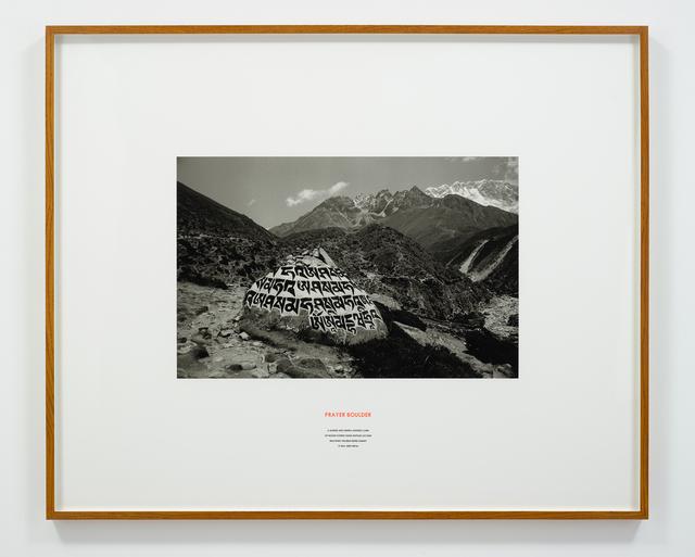 Hamish Fulton, 'Prayer Boulder, Nepal, 2009', 2009, Photography, Photograph and text, Parafin