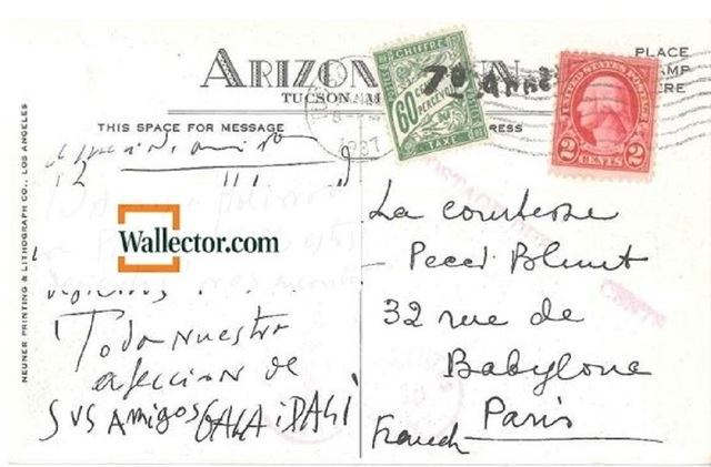 , 'Interesting Postcard by Dalì to Countess Pecci Blunt,' 1937, Wallector