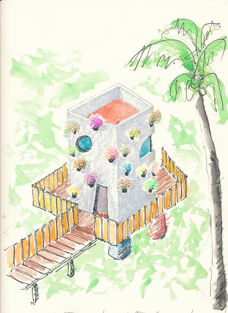 , 'La casa di Bahia, progetto per una casa privata  e  alcune guest house nel parco,  Bahia, 1998 ,' , Antonia Jannone Disegni di Architettura