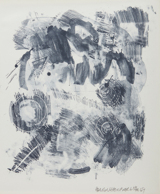 Robert Rauschenberg, 'Loop, from the Stoned Moon Series', 1969, Print, Lithograph, on Rives BFK paper, the full sheet, Phillips