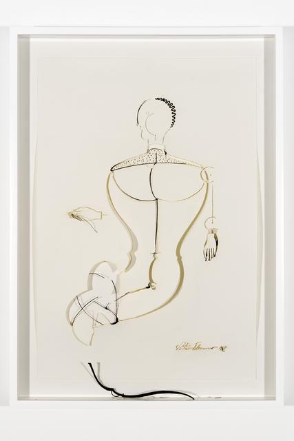 ", 'Collapsed Drawing: ""Abstrakte Figur, Kopf Mach Links"" (OSKAR SCHLEMMER),' 2007, PRAZ-DELAVALLADE"