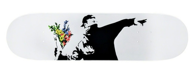 Banksy, 'Flower Thrower Deck', 2018, Design/Decorative Art, Silkscreen on wood, Alpha 137 Gallery Gallery Auction