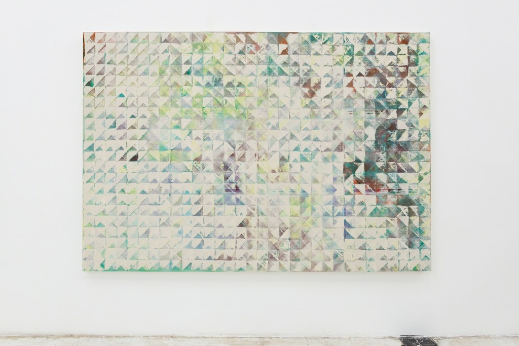 Lynne Golob Gelfman, Trued Surface, Thru 3, Acrylic on canvas, 66 x 96 inches