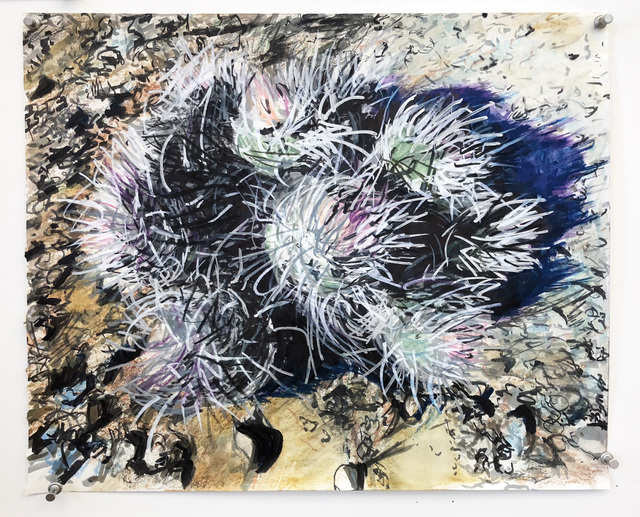 , 'Cacti as sea anemones,' 2018, Burning in Water