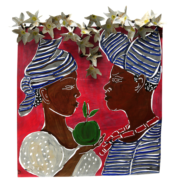 Sokari Douglas Camp, 'Eve's Conversation (hat with flaps), from the Frangipani series', 2017, Arthouse - The Space (Nigeria)