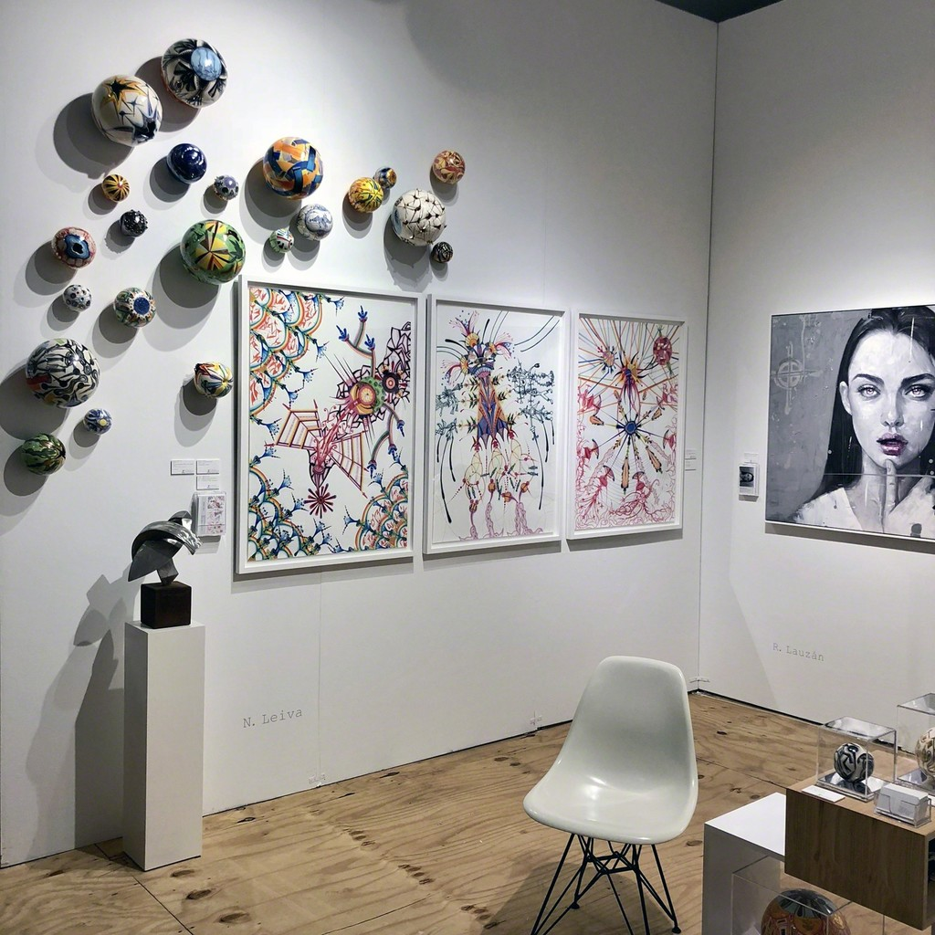 Works by Nicolás Leiva - Spheres: From the series: Constellation - Artwork: El Diluvio Prometido - Edition of 50 + 2 A.P. . Sculpture by Carlos González and painting by Roldán Lauzán