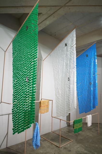 , ' Flagged Boxes,' 2017, Loop Alternative Space