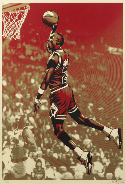 Shepard Fairey (OBEY), 'Michael Jordan', 2009, Julien's Auctions
