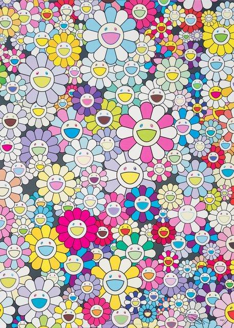 Takashi Murakami, 'Champagne Supernova: Mulicolor + Pink and White Stripes', 2013, Heritage Auctions