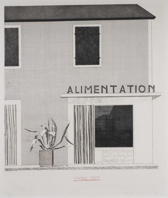 David Hockney, 'French Shop', 1971, Redfern Gallery Ltd.