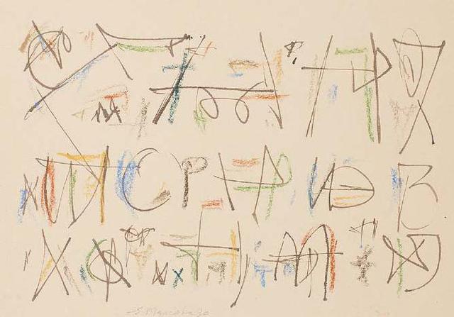 , 'Untitled (Calligraphic 3),' 1990, Aicon Gallery