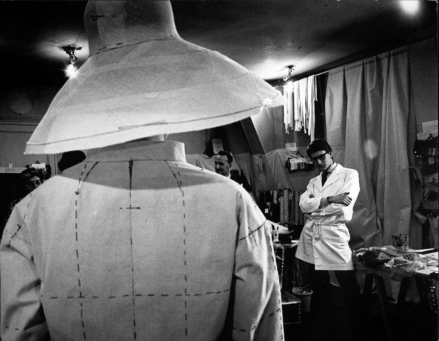, 'Yves Saint Laurent judging a toile for his first haute couture collection,' 1962, Seattle Art Museum