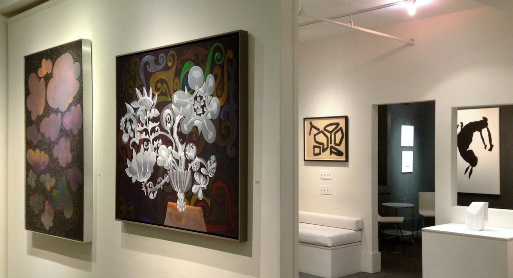 Installation view:  Donald Traver, Conrad Malicoat, Rebecca Doughty