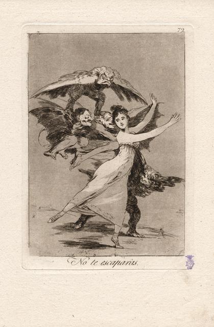 , 'No te escaparás. (You will not escape.),' 1796-1797, Seattle Art Museum