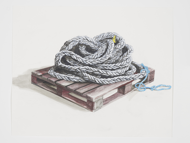 , 'Untitled (Rope on pallet),' 2016, Studio SALES di Norberto Ruggeri