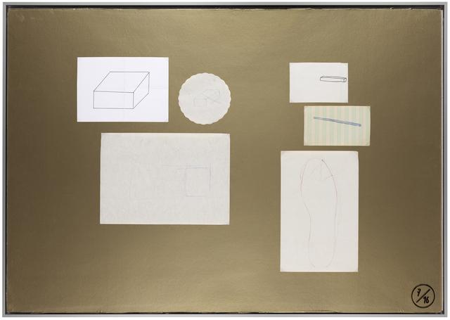 , 'Planche d'atelier 7/16 - série Pauvres Sujets / gold,' 2016, Galerie nächst St. Stephan Rosemarie Schwarzwälder