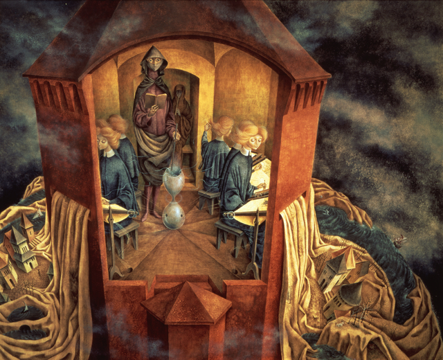 Remedios Varo, 'Bordando el manto terrestre (Embroidering the Earth's Mantle)', 1961, Gallery Wendi Norris