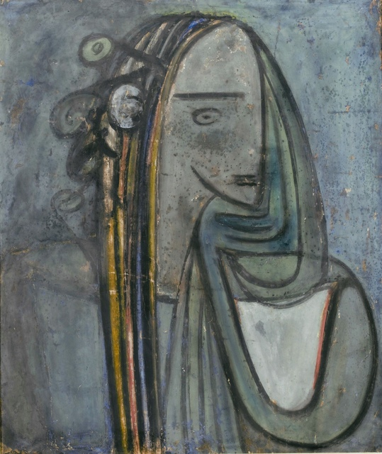 Wifredo Lam, 'Untitled', 1944, Painting, Mixed media on paper laid on canvas, Galleria Ferrari