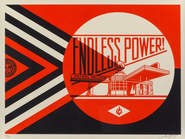 Shepard Fairey, 'Endless Power Petrol Palace (Red)', 2019, Heritage Auctions