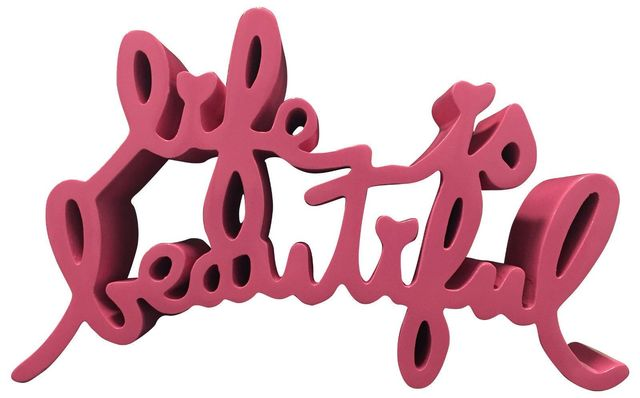 "Mr. Brainwash, 'MR BRAINWASH HARD CANDY PINK ""LIFE IS BEAUTIFUL"" SCULPTURE, SIGNED & NUMBERED EDITION', 2015, Arts Limited"