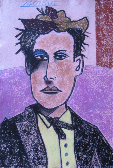 Richard Merkin, '(394) Arthur Rimbaud (purple)', 1980-2000, Carrie Haddad Gallery