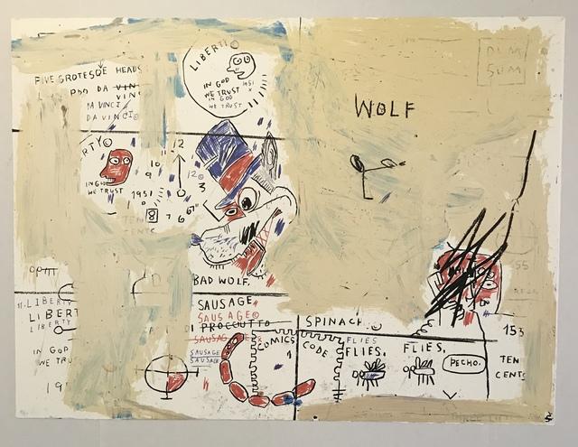 Jean-Michel Basquiat, 'Wolf Sausage', 1982-2019, Print, Screenprint, Gregg Shienbaum Fine Art
